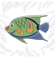Cute little fish vector image