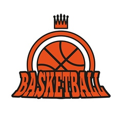 Basketball badge with stars and crown vector