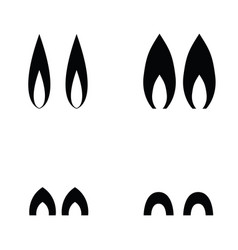 animal ears icons vector image