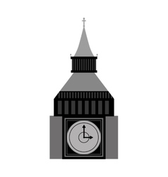 big ben london city isolated icon vector image