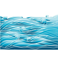 blue wavesvector image of sea background for desig vector image vector image