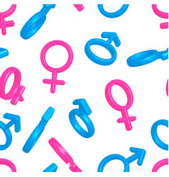 Bright colorful men and women gender signs on vector