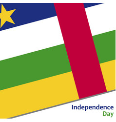 Central african republic independence day vector