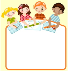 childhood mathematics vector image vector image