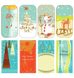 christmas retro backgrounds vector image vector image