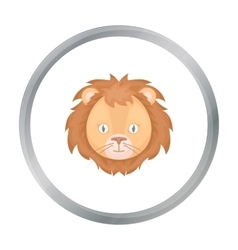 Circus lion icon in cartoon style isolated on vector image
