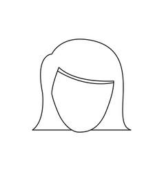 Figure face formal woman icon vector