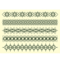 five decorative lines vector image