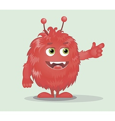 Good red furry monsters 6 vector