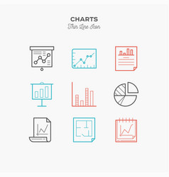 graphics charts infographic and more thin line vector image vector image