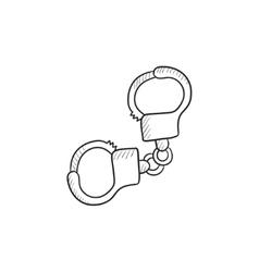 Handcuffs sketch icon vector image