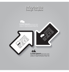 Infographics with arrows vector image