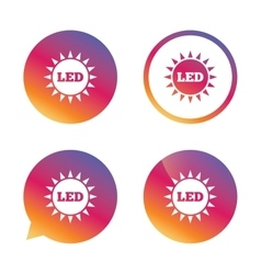 Led light sun icon energy symbol vector