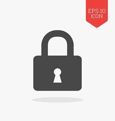 Lock icon Flat design gray color symbol Modern UI vector image