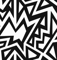 monochrome african seamless pattern vector image