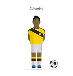 National football player Colombia soccer team vector image vector image