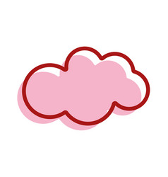 Nice cloud sky icon vector