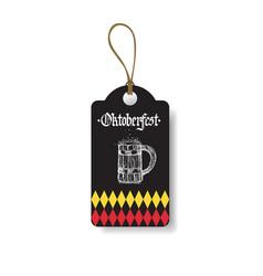 oktoberfest tag german beer festival flyer design vector image