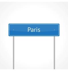 Paris traffic sign vector image vector image