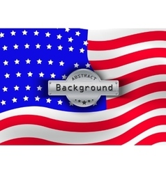 Pattern flag USA background vector image