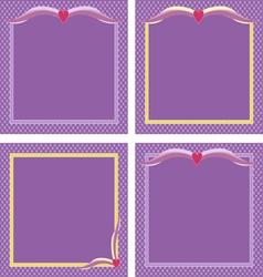 Purple frames vector