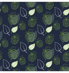 Seamless pattern with abstract fresh apple vector image vector image