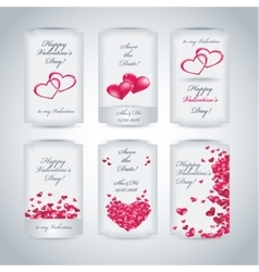 Set of Happy Valentines Day tags vector image vector image