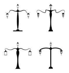 street lamp icon set vector image