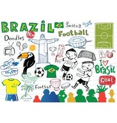 Symbols of Brazil vector image vector image
