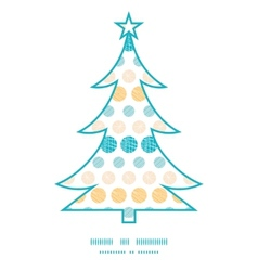 texture circles stripes abstract Christmas tree vector image vector image