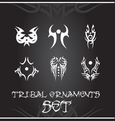 Tribal design elements and tattoo ornaments set vector