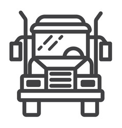 truck line icon transport and vehicle cargo sign vector image vector image