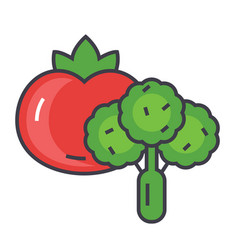 Vegetables concept line icon editable vector