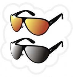 Pair of mirrors sun glasses vector