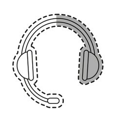 Isolated headphone design vector