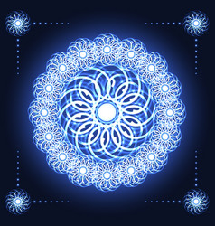 Abstract fractal flower vector