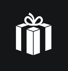 gift box icon with bow vector image