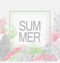 Summer trendy tropical leaf design vector