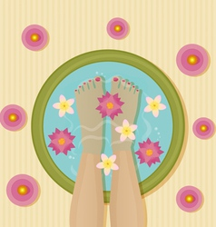Pedicure spa vector