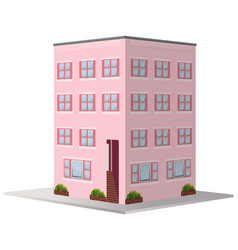 3d design for apartment building vector image vector image