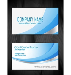 Creative business card template design vector