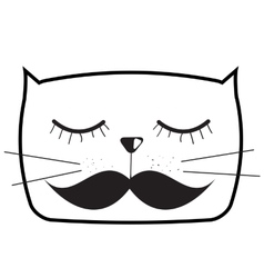 Cute handdrawn cat vector