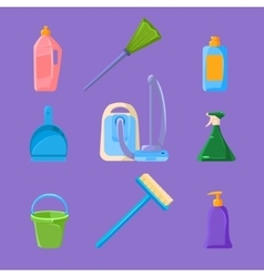 Cleaning and housework icons set vector