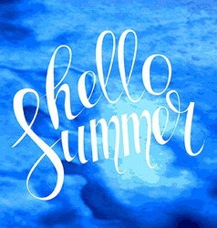 Summer typography lettering vector