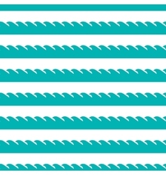 Aqua green waves seamless pattern vector