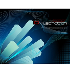 Blue abtract technology background vector image vector image