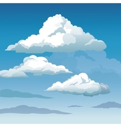 Blue sky clouds seamless background vector