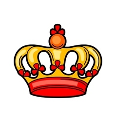 Crown retro tattoo symbol Cartoon old school vector image