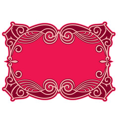 decorative frame in art nouveau style vector image