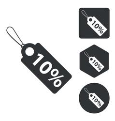 Discount icon set monochrome vector